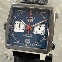 TAG Heuer Monaco Calibre 11 Acero 39mm Azul Sin cifras