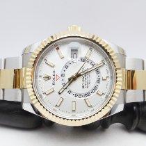 Rolex Sky-Dweller Oro/Acciaio 42mm Bianco Senza numeri Italia, Rassina