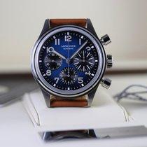 Longines Titanium Automatic Blue Arabic numerals 41mm new Avigation