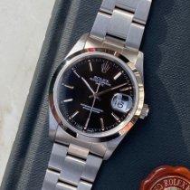 Rolex Oyster Perpetual Date Staal 34mm Zwart Geen cijfers Nederland, Naarden