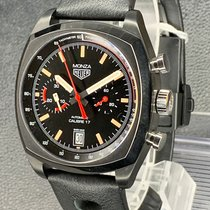 TAG Heuer Monza Титан 42mm Черный Без цифр