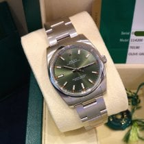 Rolex Oyster Perpetual 34 Zeljezo 34mm Zelen Arapski brojevi