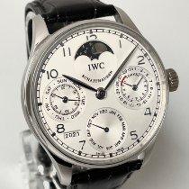 IWC Portuguese Perpetual Calendar Platinum 42mm Silver Arabic numerals