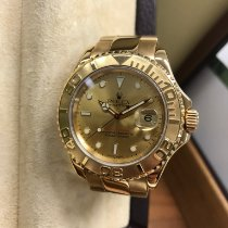 Rolex Yellow gold Automatic Champagne 40mm pre-owned Yacht-Master 40