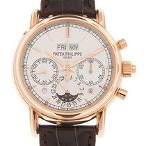 Patek Philippe Perpetual Calendar Chronograph Rose gold 40mm Silver No numerals