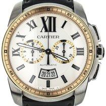 Cartier Calibre de Cartier Chronograph Gold/Steel 42mm White United States of America, Illinois, BUFFALO GROVE