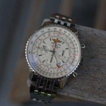 Breitling Navitimer GMT Staal 48mm Zilver