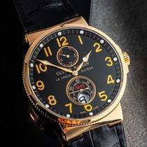 Ulysse Nardin Marine Chronometer 41mm Açık kırmızı altın 41mm Siyah Arap rakamları