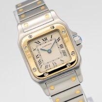 Cartier Santos Galbée 1057930 Meget god Guld/Stål 24mm Kvarts
