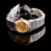 Omega Constellation Quartz 123.20.24.60.58.001 New Steel 24mm Quartz