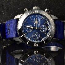 Breitling Superocean Heritage II Chronographe Staal 44mm Blauw Geen cijfers