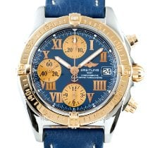 Breitling Chrono Cockpit Goud/Staal 38.5mm Blauw