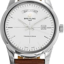 Breitling Transocean Day & Date Staal 43mm Zilver