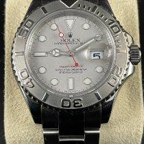 Rolex Yacht-Master 40 Staal 40mm Zilver Geen cijfers