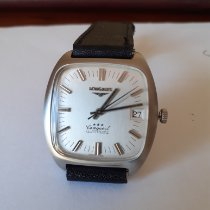 Longines Aluminum Automatic Silver No numerals 34mm pre-owned Conquest