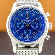 Breitling Transocean Unitime Pilot Staal 46mm