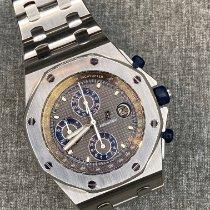 Audemars Piguet Royal Oak Offshore Chronograph подержанные 42mm Синий Хронограф Дата Сталь