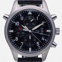 IWC Pilot Double Chronograph Aço 46mm Preto Árabes