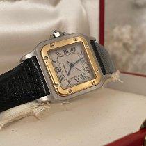 Cartier Santos Galbée 1566 Muito bom Ouro/Aço 29mm Quartzo