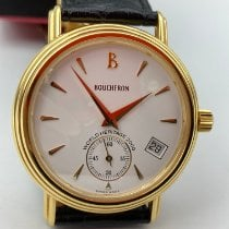 Boucheron new Automatic Display back Small seconds 35mm Yellow gold
