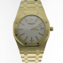 Audemars Piguet Yellow gold Automatic White No numerals 39mm pre-owned Royal Oak Jumbo