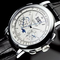 A. Lange & Söhne Datograph Platinum 39mm Silver Roman numerals United States of America, New York, New York