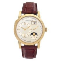 A. Lange & Söhne Yellow gold Manual winding Champagne Roman numerals 38.5mm pre-owned Lange 1