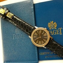 Piaget Altiplano Oro blanco 34mm Azul Romanos