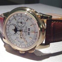 Patek Philippe Perpetual Calendar Chronograph Желтое золото 40mm Cеребро Без цифр
