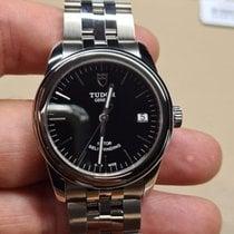 Tudor Glamour Date Steel 26mm Black No numerals