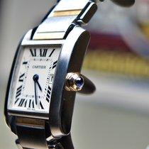 Cartier Tank Française Gold/Stahl 25mm Weiß Römisch Deutschland, Eltville