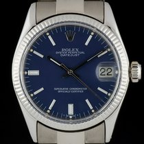 Rolex White gold Automatic Blue 30mm pre-owned Oyster Perpetual Date