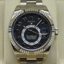 Rolex White gold Automatic Black Roman numerals 42mm new Sky-Dweller