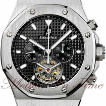 Audemars Piguet Royal Oak Tourbillon Steel 44mm Black No numerals United States of America, New York, New York