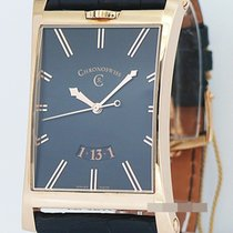 Chronoswiss Rose gold Automatic Black No numerals 36mm new Imperia