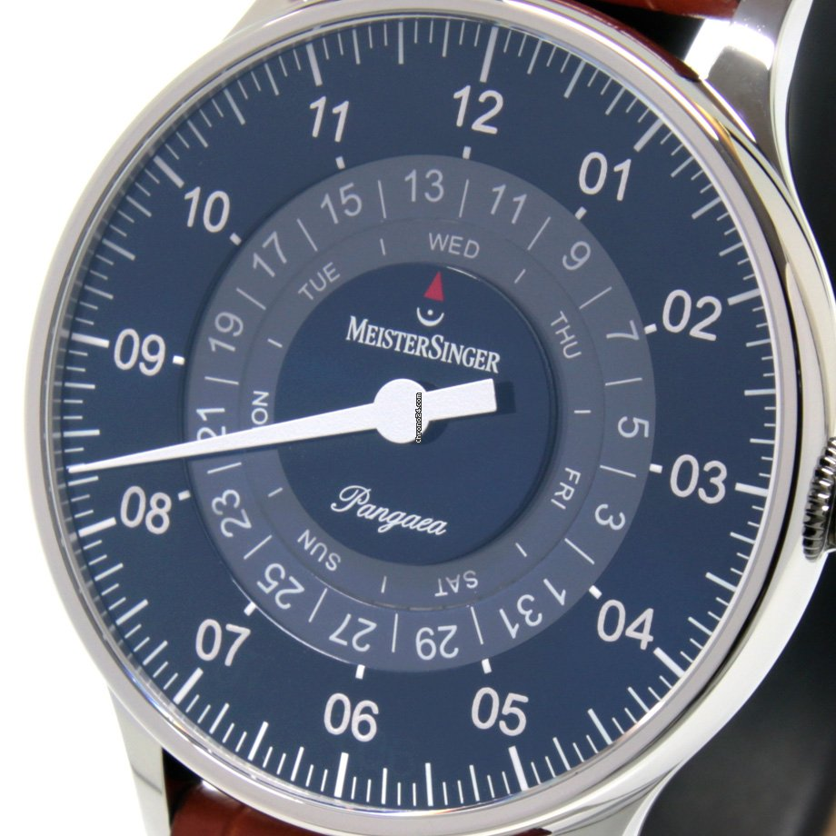 Meistersinger Pangaea Day Date PDD908 - MEISTERSINGER Pangaea DAY DATE BLUE DIAL 2020 new