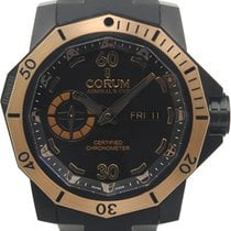 Corum Admiral's Cup Seafender Deep Hull pre-owned 48mm Black Date Rubber