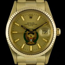 Rolex Oyster Perpetual Date Yellow gold 34mm Gold No numerals United Kingdom, London