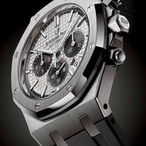 Audemars Piguet Titanium Automatic Silver No numerals 41mm new Royal Oak Chronograph
