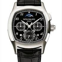 Patek Philippe Platinum Manual winding Black Arabic numerals 38mm new Perpetual Calendar Chronograph