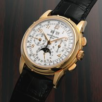 Patek Philippe Rose gold Manual winding Silver No numerals 40mm new Perpetual Calendar Chronograph