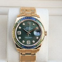 Rolex Pearlmaster Yellow gold 39mm Green No numerals United States of America, New York, New York