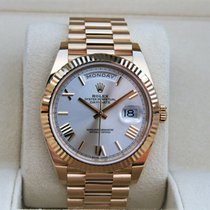 Rolex Day-Date 40 Yellow gold 40mm Silver Roman numerals United States of America, New York, New York