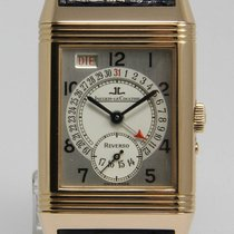 Jaeger-LeCoultre Red gold Manual winding 26mm pre-owned Reverso Grande Taille