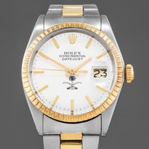 Rolex Oyster Perpetual Date pre-owned 35 mm case not including  crownmm Gold Panorama date Gold/Steel