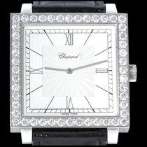 Chopard Happy Diamonds Bílé zlato 35mm Šampaňská barva Římské