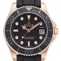 Rolex Yacht-Master 37 Oro rosa 37mm Negro Sin cifras