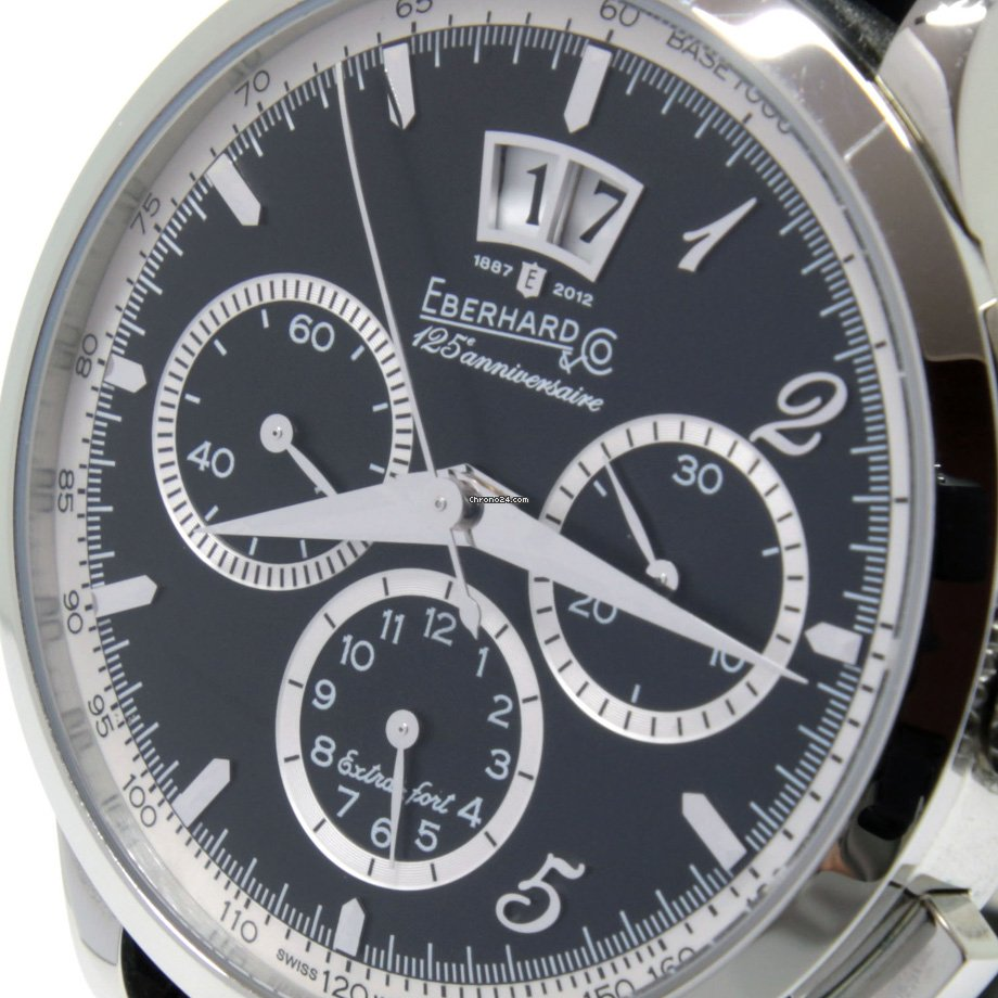 Eberhard & Co. Extra-Fort 31125.2 CPD EBERHARD EXTRAFORT Nero Cronografo Automatico 125 Anniversario 2020 new