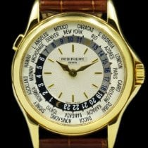 Patek Philippe World Time pre-owned 37mm Leather