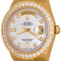Rolex Day-Date 36 Or jaune 35mm Nacre Sans chiffres